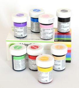 różne kolory barwników spożywczych